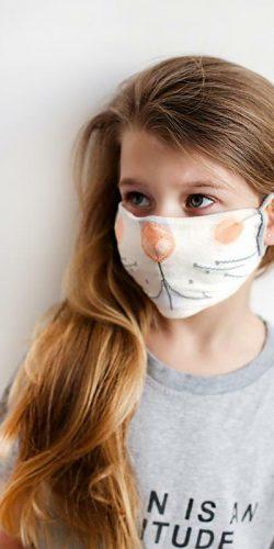Mascherina lavabile per bambini in tessuto Oeko-tex Coniglietto