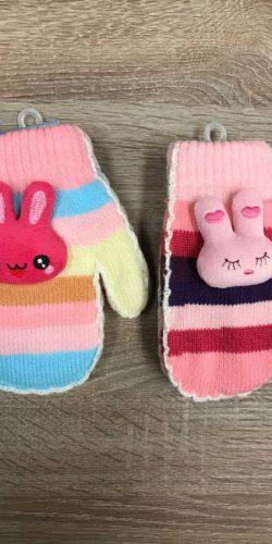 Muffole colorate per bambine con coniglietto