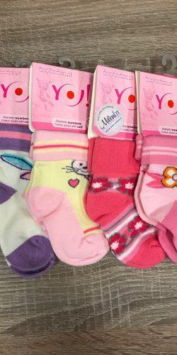 4 paia calzini cotone neonata 6-12 mesi assortiti