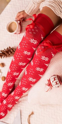 Parigine natalizie in cotone fantasia norvegese