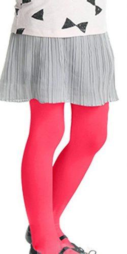Collant colorati rosa rosso bambina microfibra 40 den 2-6 anni