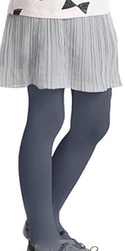 Collant colorati blu grigio bambina microfibra 40 den 2-6 anni