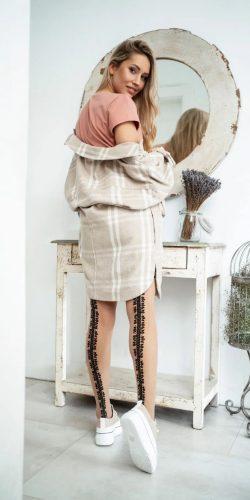 Collant finte calze con disegno dietro 20 den Identity