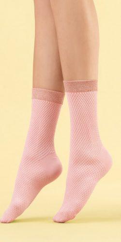Calzini corti rosa polsino glitterato 60 den Cornetto