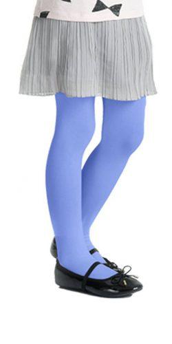 Collant colorati bambina blu grigio microfibra 40 den 6-12 anni