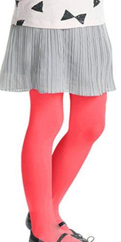 Collant colorati bambina microfibra 40 den rosa rosso 6-12 anni