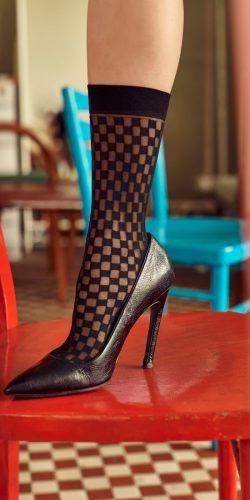Calzini fashion fantasia scacchiera Van